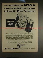 1955 Voigtlander Vito B Camera Ad - Auto Film Transport