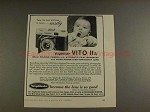 1956 Voigtlander Vito IIa Camera Ad - Best Pics in Town