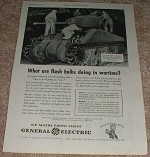 1943 WWII M-4 Sherman Tank Ad - General Electric NICE!