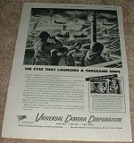 1943 WWII Universal Camera Corporation Ad, Naval Battle