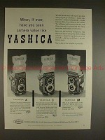 1957 Yashica A, C, LM Camera Ad - Ever Seen Value Like!