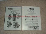 1958 Yashica 44 & 635 TLR, B & B-T Movie Camera 2pg Ad!