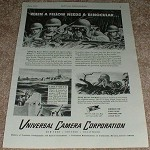 1943 WWII Universal Camera Corporation Ad, Soldiers!!!