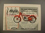 1949 Jawa 250 Motorcycle Ad - Most Talked About!
