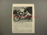 1949 Jawa 250 Motorcycle Ad w/ Joan Burns!