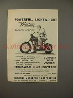 1949 Mustang Motorcycle Ad - Powerful, Lightweight!