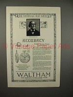 1921 Waltham Colonial A Watch Ad - Accuracy!