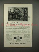 1926 Gruen Cartouche Watch Ad - Old Guild Masters