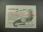 1948 Eterna Automatic Watch Ad - Never Runs Down!