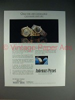 1986 Audemars Piguet Royal Oak Watch Ad - Dedicated!