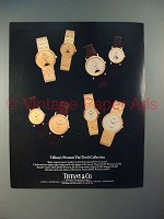 1986 Tiffany & Co Concord Tivoli Collection Watch Ad!