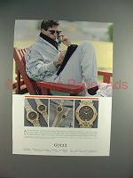 1986 Gucci model 9000 Watch Ad - NICE!