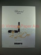 1986 Chopard Happy Diamonds Watch Ad - NICE!