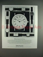 1986 Tiffany & Co. Classic Quartz Watch Ad!