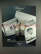 1989 Chopard Gstaad Watch Ad - NICE!