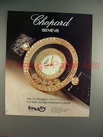 1989 Chopard Happy Diamonds Watch Ad - NICE!