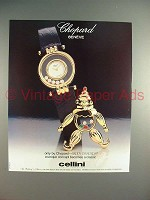 1989 Chopard Happy Diamonds Watch Ad
