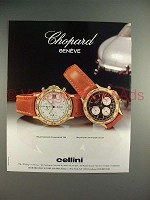 1990 Chopard Chronograph 1181, 1179 Watch Ad!
