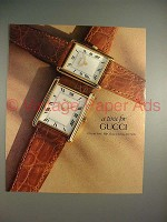 1991 Gucci Watch Ad - A Time for Gucci!