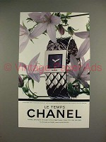 1994 Chanel Le Temps Watch Ad - NICE!