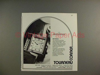 1994 Jaeger-LeCoultre Reverso Watch Ad - NICE!