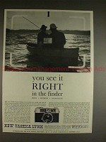 1960 Yashica Lynx Camera Ad - See it Right in Finder!!