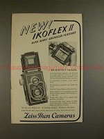 1950 Zeiss Ikon Ikoflex II Camera Ad - Advanced Feature
