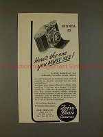 1950 Zeiss Ikon Ikonta 35 Camera Ad - One You Must See!