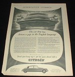 1958 Citroen D.S.19 Car Ad, Superlative - Driven a Gap!