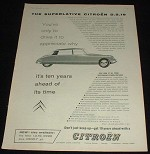 1958 Citroen D.S.19 Car Ad, Drive it to Appreciate Why!