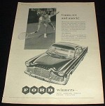 1958 Ford Zephyr Car Ad, Game Set Match - Tennis!!