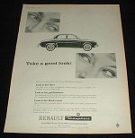 1959 Renault Dauphine Car Ad, Take A Good Look NICE!!