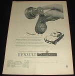 1959 Renault Dauphine Car Ad, Switch NICE!!