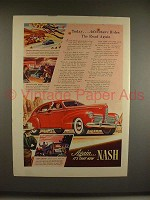 1940 Nash Car Ad - Adventure Rides The Road Again!