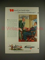 1948 Beechcraft Bonanza Model 35 Airplane Ad - Lunch!