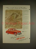 1949 Kaiser Special Car Ad w/ Escort Aircraft Carrier!