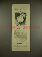 1951 Omega Watch Ad - For This Historic Year!