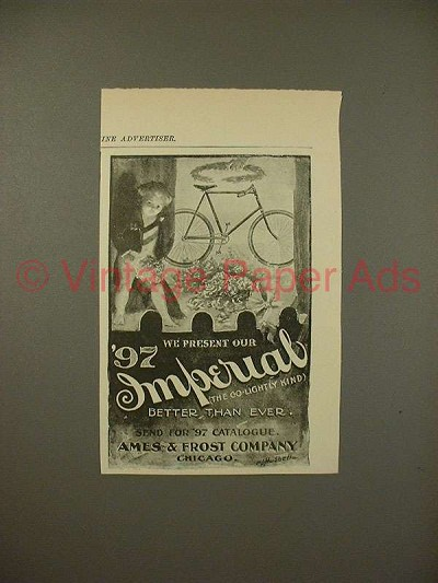 1897 Imperial Bicycle Ad - Better than Ever!