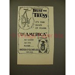 1897 America Cycle Bicycle Ad - Trust the Truss