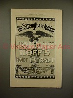 1897 Johann Hoff's Malt Extract Ad - Strength!