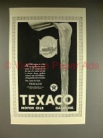 1923 Texaco Gasoline & Motor Oil Ad - A Fine Engine
