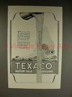 1923 Texaco Gasoline & Motor Oil Ad - Clean, Clear