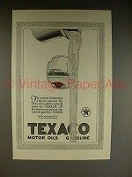 1923 Texaco Gasoline & Motor Oil Ad - Lubrication!