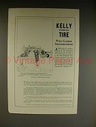 1921 Kelly-Springfield Tire Ad - Prize Contest