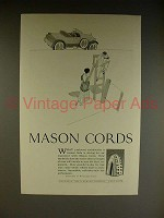 1923 Mason Cords Tire Ad - Tennis Players