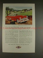 1954 Chevrolet Bel Air Sport Coupe Ad - Wrings Power!!