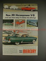1954 Mercury Car Ad - How Easy it Makes Any Driving!