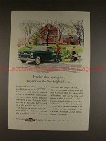 1955 Chevrolet Bel Air Sport Coupe Ad - Springtime!