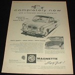 1959 MG Magnette Mark III Car Ad, Sporting Pedigree!!