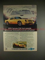 1979 Chevrolet Camaro Z28 Ad - What Performance Is!!